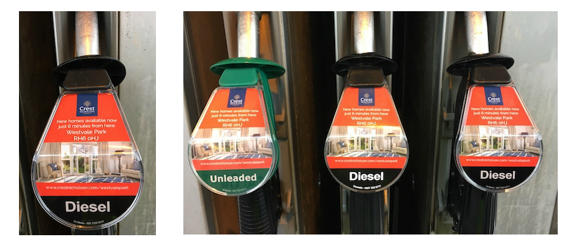 Petrol pump advertising campaign